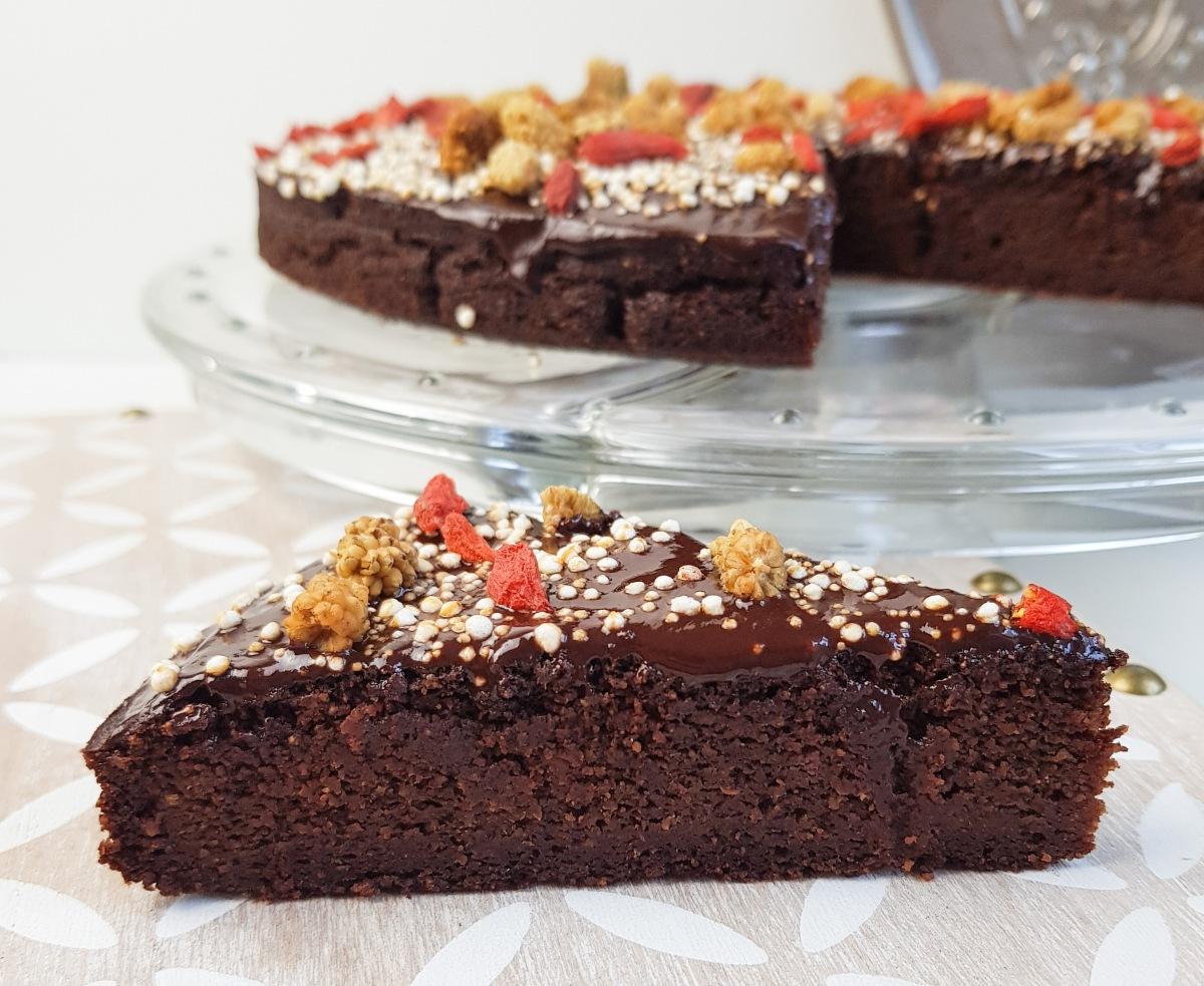 Zucchuni-Schoko-Kuchen, vegan, glutenfrei und ohne industriellen Zucker